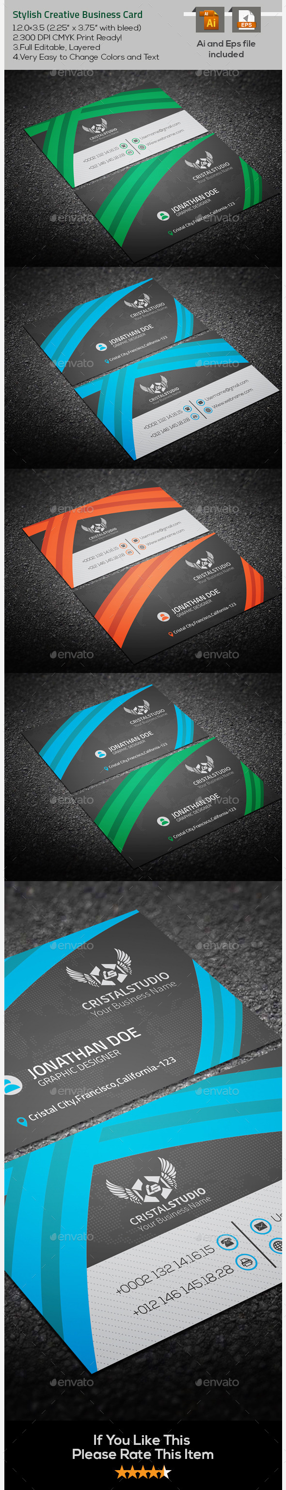 GraphicRiver Stylish Creative Business Card 9646409