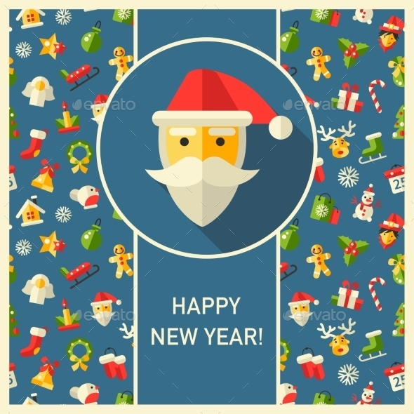 GraphicRiver Christmas and Happy New Year Pattern 9646428