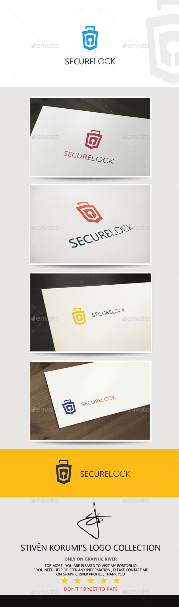 GraphicRiver Secure Lock Logo 9646561