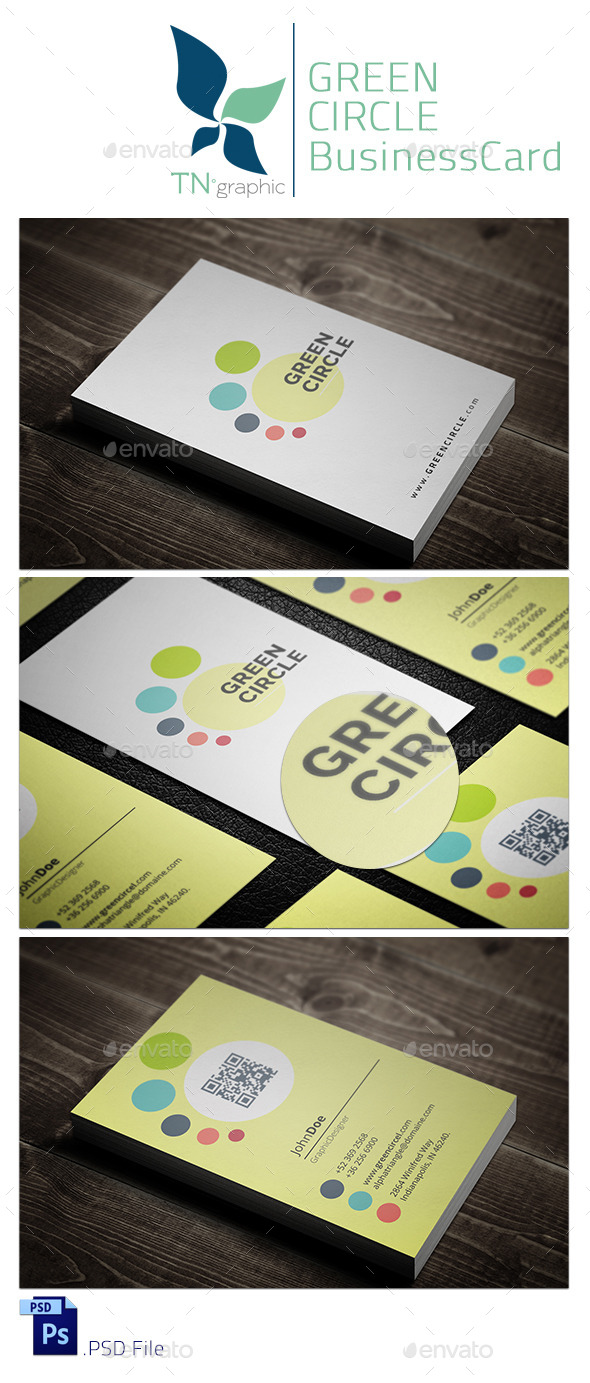 GraphicRiver Green Circle BusinessCard 9612804