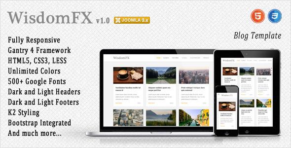 ThemeForest WisdomFX Responsive Joomla Template 9609198