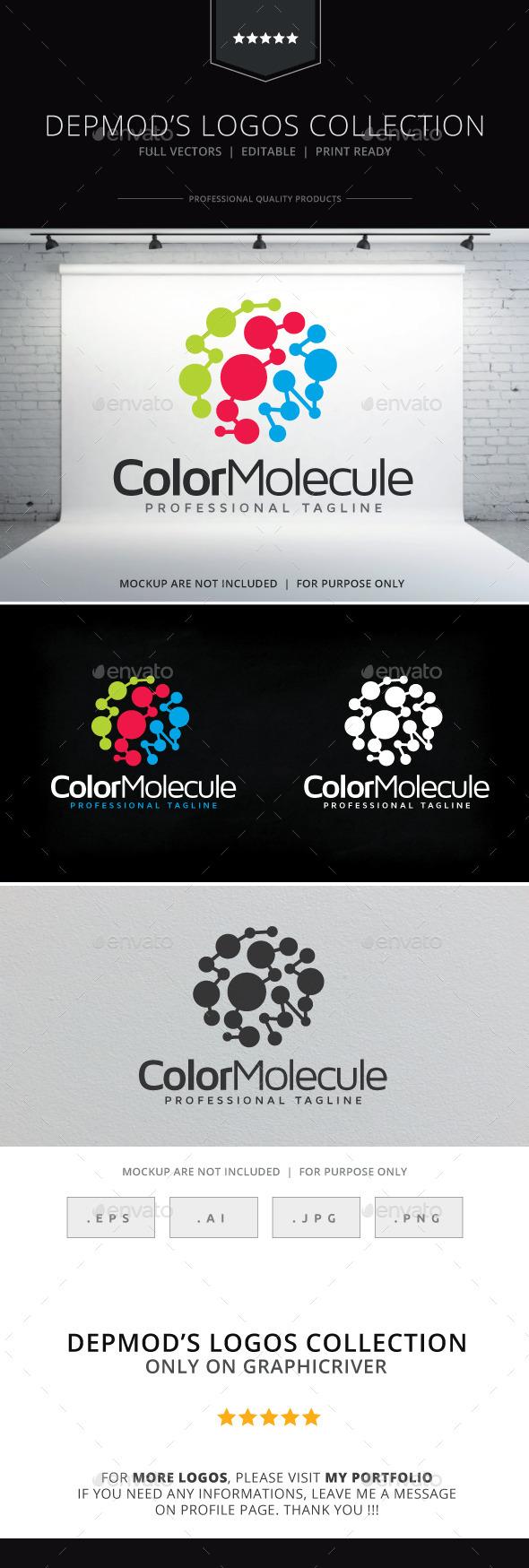 GraphicRiver Color Molecule Logo 9646706