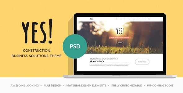 ThemeForest Yes Multi Purpose PSD Template 9646735