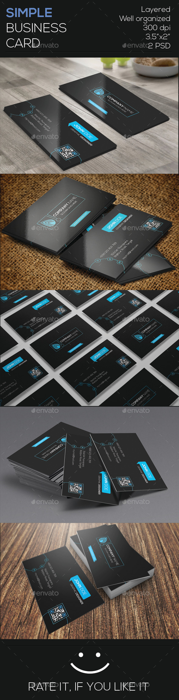 GraphicRiver Simple Business Card 9646743