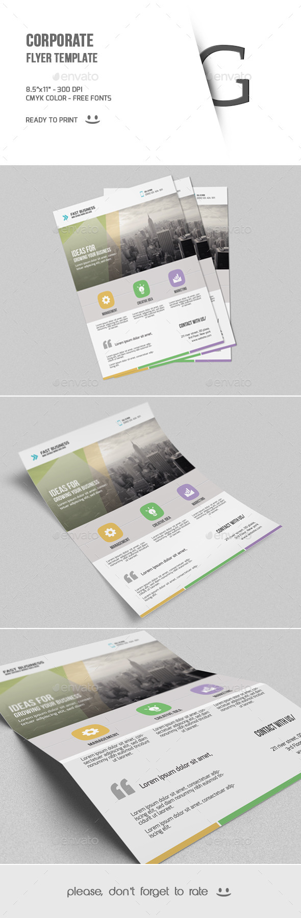 GraphicRiver Corporate Flyer Template 9646859