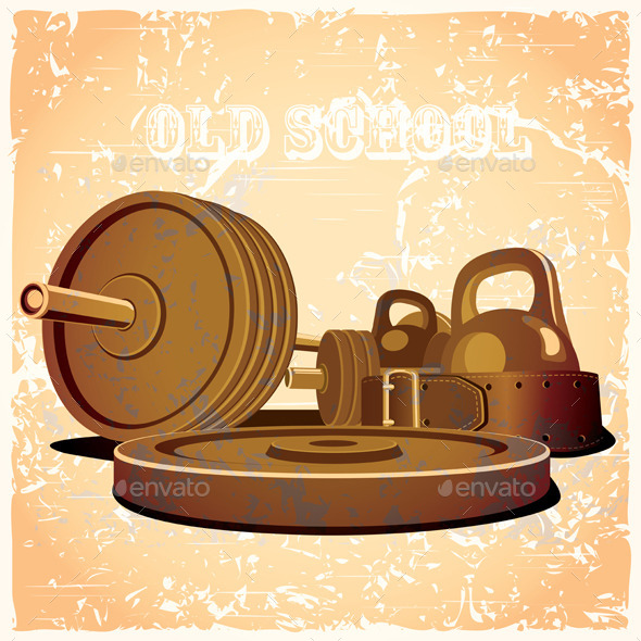 GraphicRiver Old School Gym Set 9646869