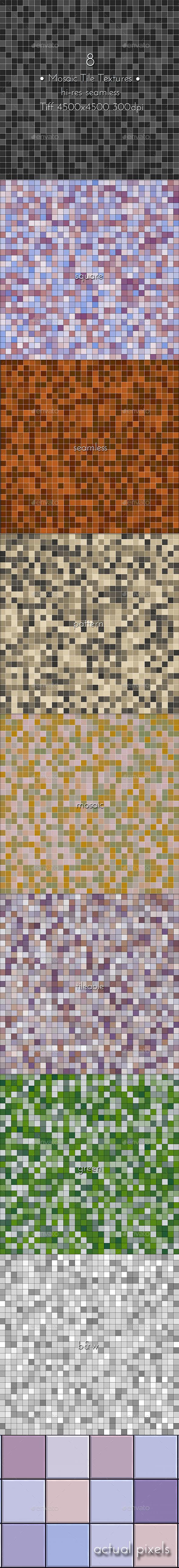 GraphicRiver Mosaic Tile Textures 9646917