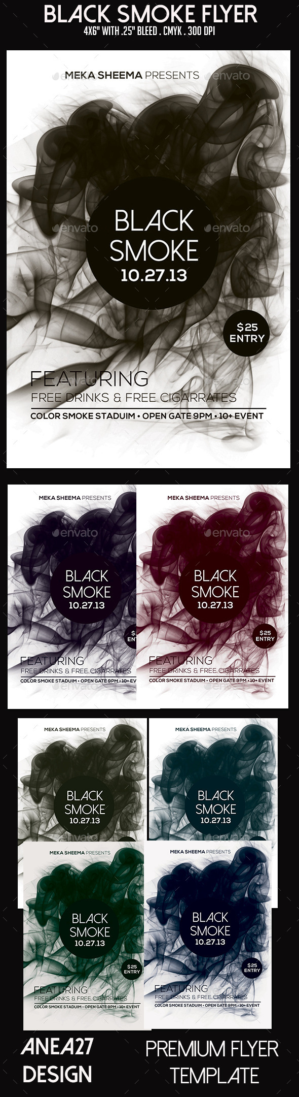 GraphicRiver Black Smoke Flyer 9646929