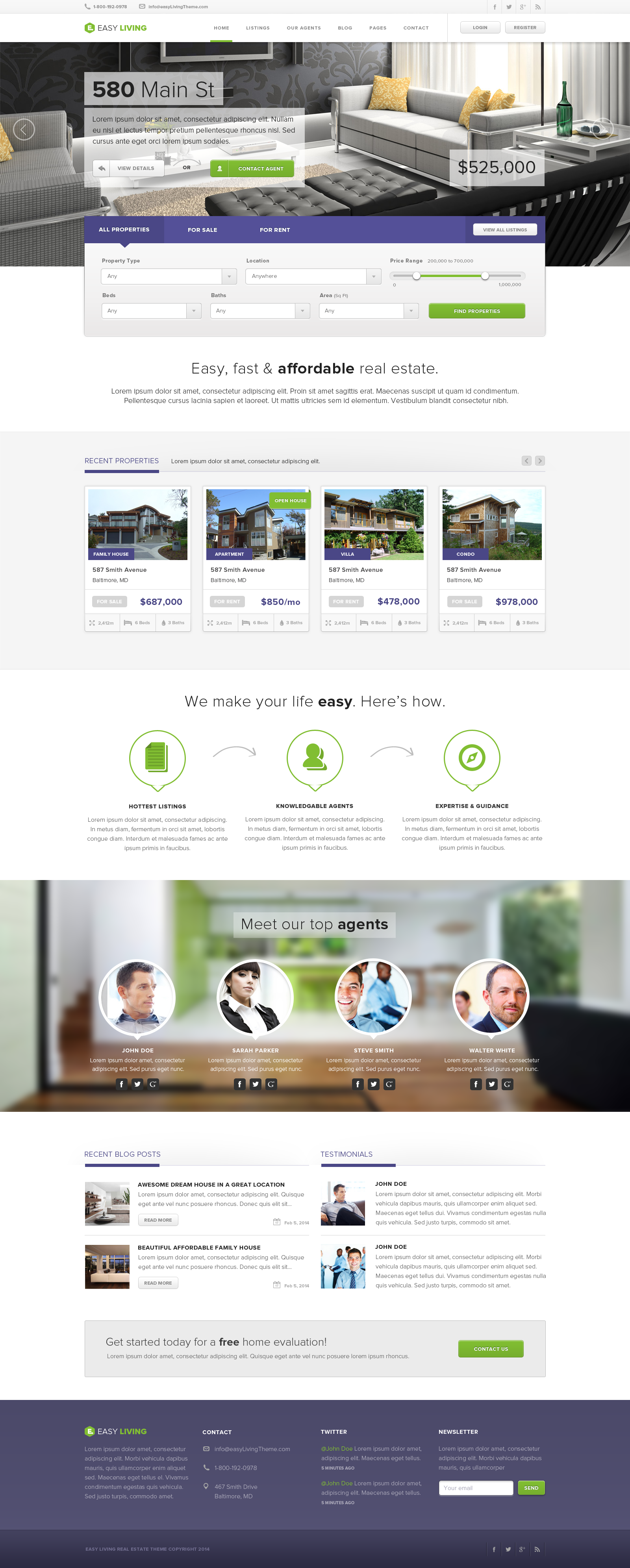 easy living real estate html template by rypecreative themeforest real estate html template business corporate · previews html 00 preview jpg