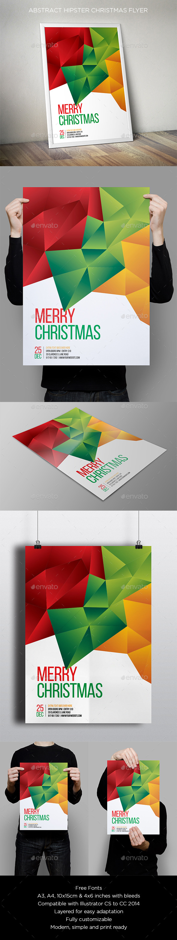 GraphicRiver Abstract Christmas Flyer 9646955