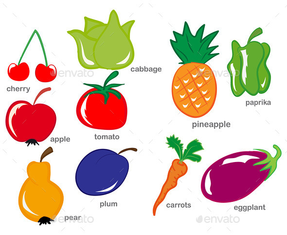 GraphicRiver Fruit and Vegetable Set 9646959