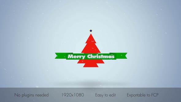 Typo Christmas Logo Intro