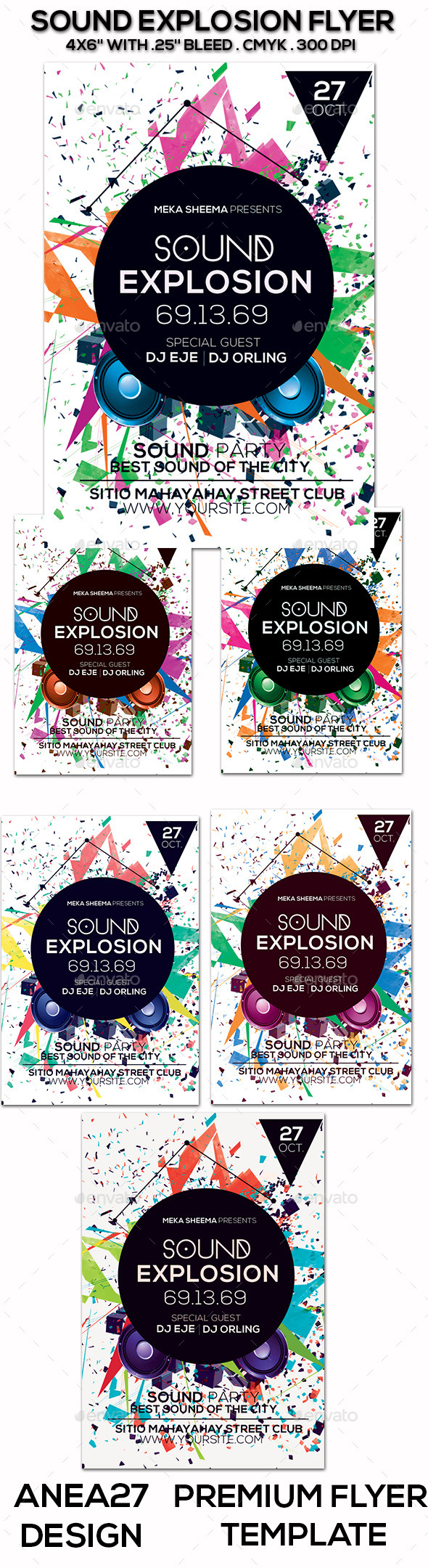 GraphicRiver Sound Explosion Flyer 9647282