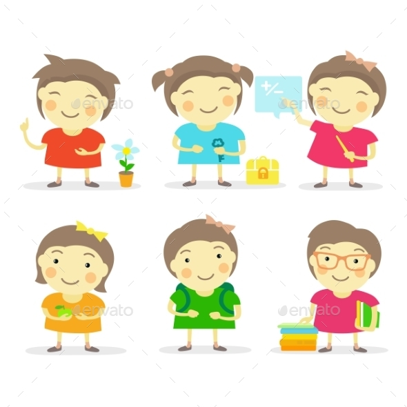 GraphicRiver Six Little Girls 9647489