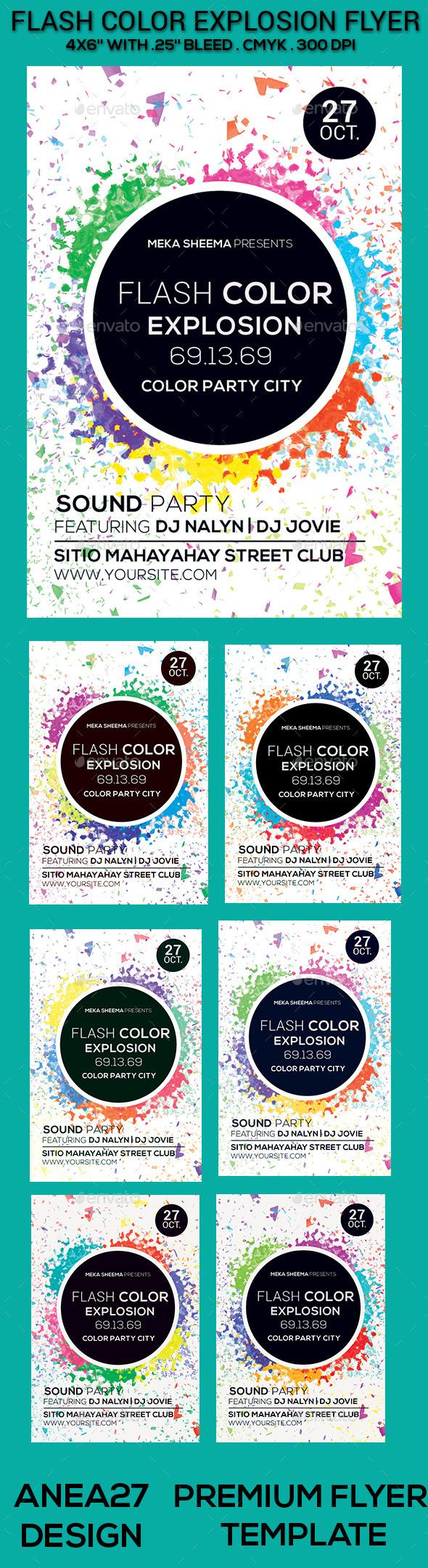 GraphicRiver Flash Color Explosion Flyer 9647864