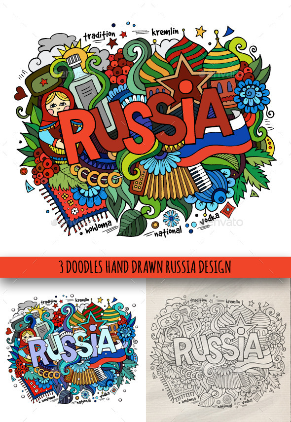 GraphicRiver Russia Doodles Designs 9647931