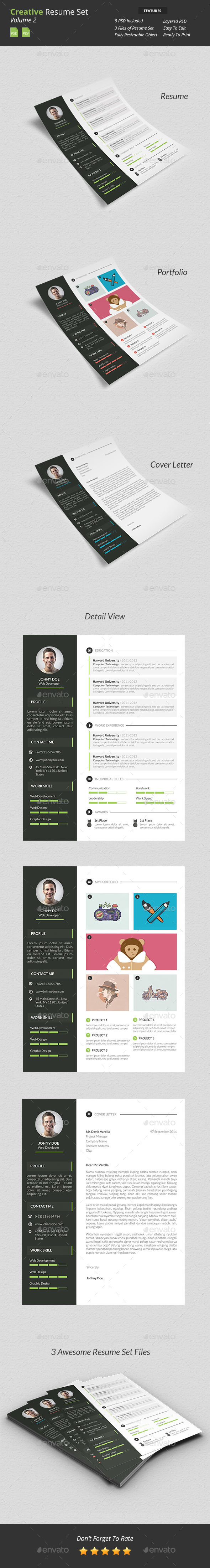 GraphicRiver Creative Resume Set v2 9648021