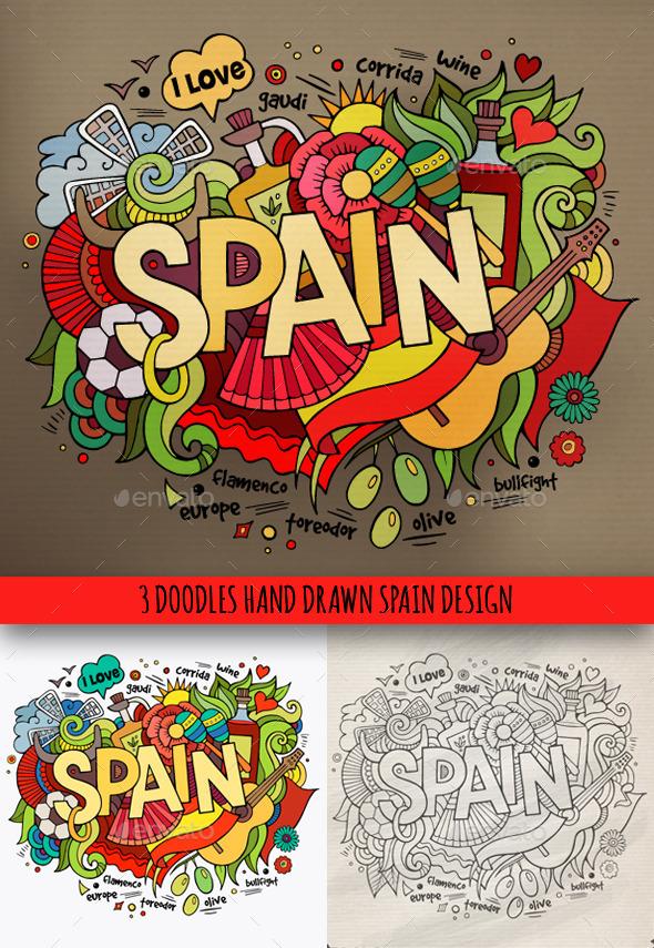 GraphicRiver Spain Doodles Designs 9648076