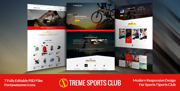 ThemeForest Xtreme Sports Club HTML Template 9525637