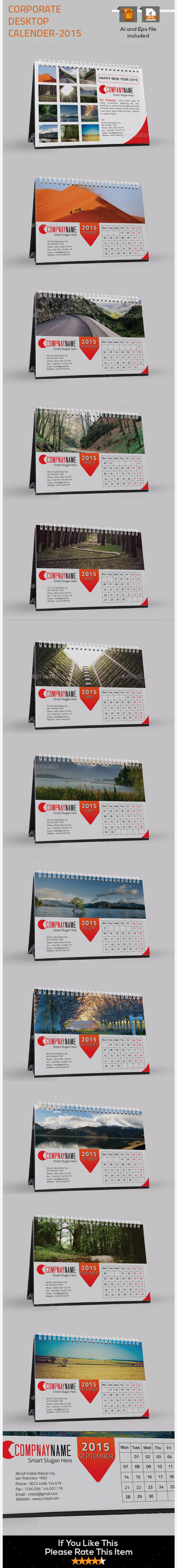 GraphicRiver Corporate Desk Calendar for 2015 9648109