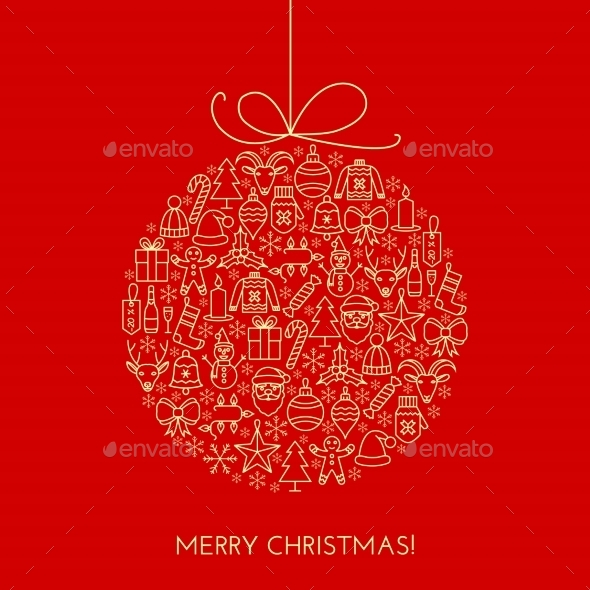 GraphicRiver Greeting Christmas Ball 9648472
