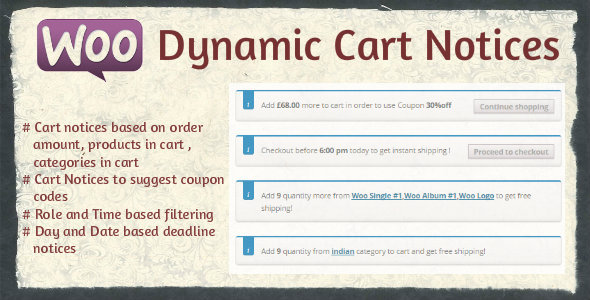 CodeCanyon Woocommerce Dynamic Cart Notices 9648724