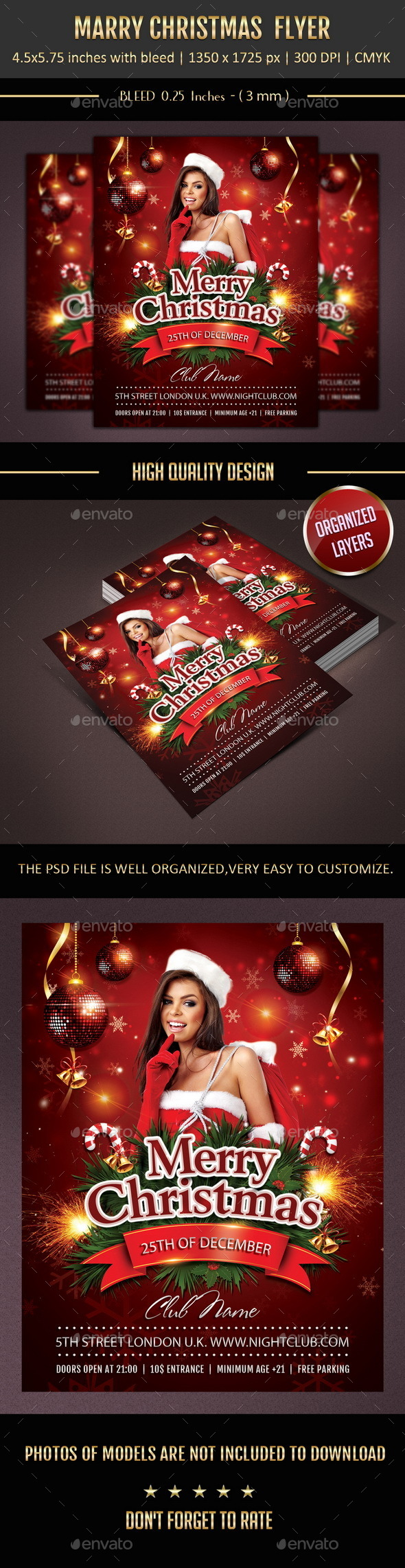 GraphicRiver Merry Christmas Flyer 9648780