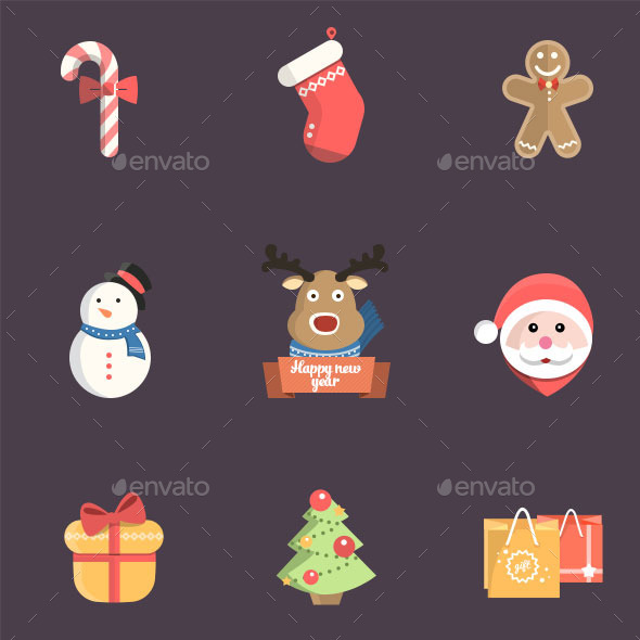 GraphicRiver Christmas Icon Pack Psd 9648880