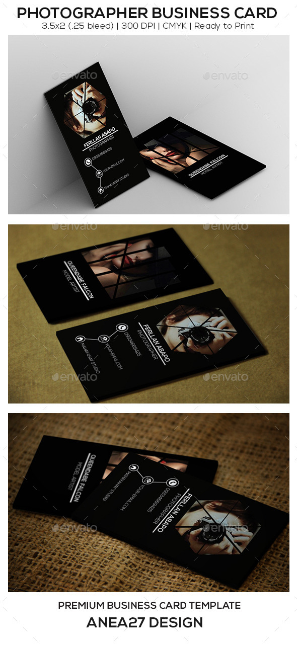 GraphicRiver Photographer Business Card 9648891