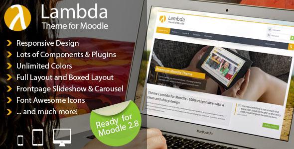ThemeForest Lambda Responsive Moodle Theme 9442816
