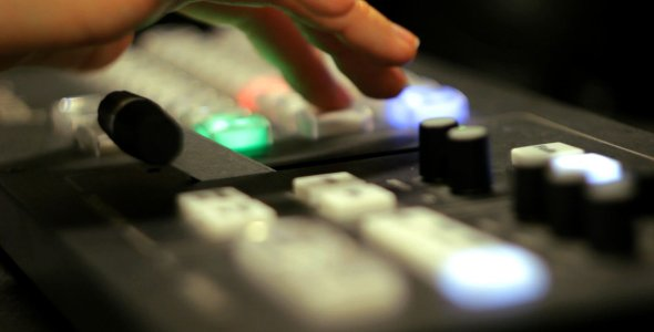 [VideoHive 980197] Working in TV Studio Control Room | Stock Footage