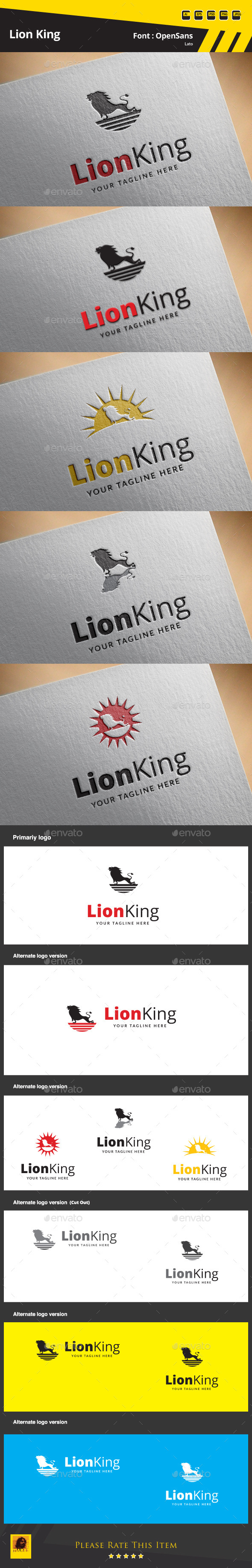 GraphicRiver Lion King Logo Template 9649027