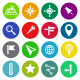 Location and Map Vector Flat Icons - GraphicRiver Item for Sale