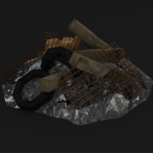 SCRAP LOW POLY TOON - 3DOcean Item for Sale