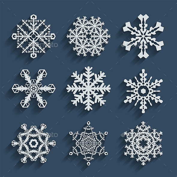 GraphicRiver Snowflakes Icons 9649130