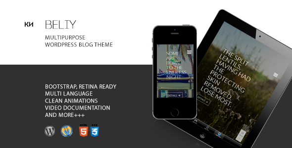 ThemeForest Beliy Minimal Modern Multipurpose Blog Theme 9560519