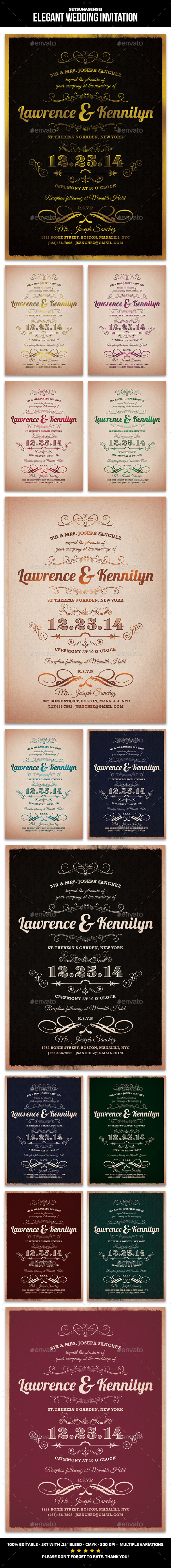 GraphicRiver Elegant Wedding Invitation 9649398