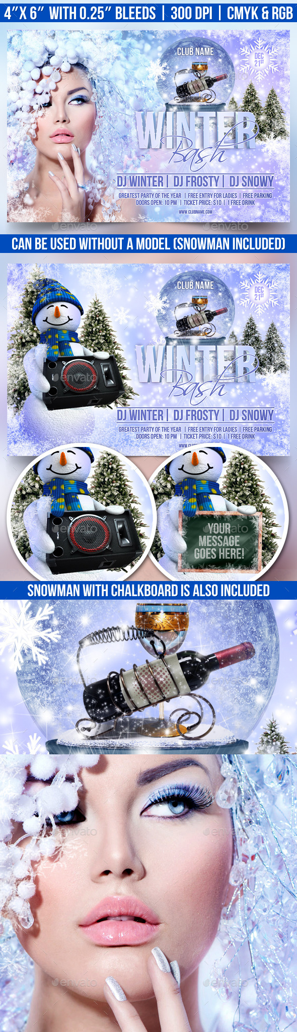 GraphicRiver Winter Bash Flyer Template 9616349