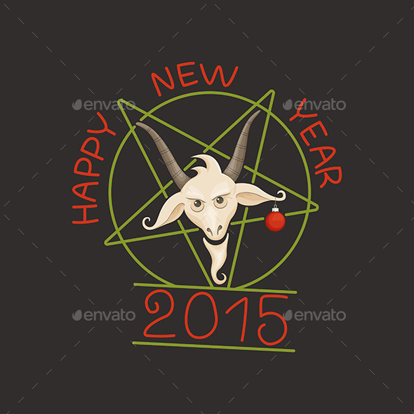 GraphicRiver Happy Year of the Goat 9649535