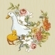 Background with Ducks and Flowers - GraphicRiver Item for Sale