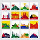 Popular Sightseeing Spots in the World Icons