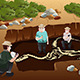 Men Dscovering Dinosaurs Fossils - GraphicRiver Item for Sale