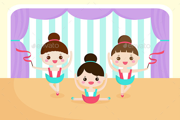 GraphicRiver Little Girls in a Ballet Performance 9649864