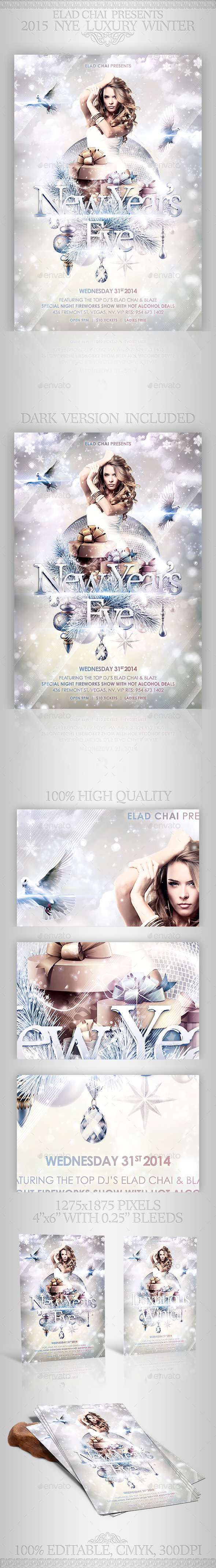GraphicRiver 2015 NYE Luxury Winter Flyer Template 9649923
