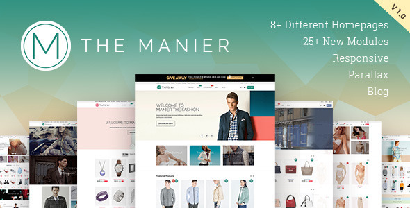 The Manier is a highly customizable responsive and parallax Prestashop theme, a multi-purpose e-commerce, clean, creative and reatina ready. With its fluid effe