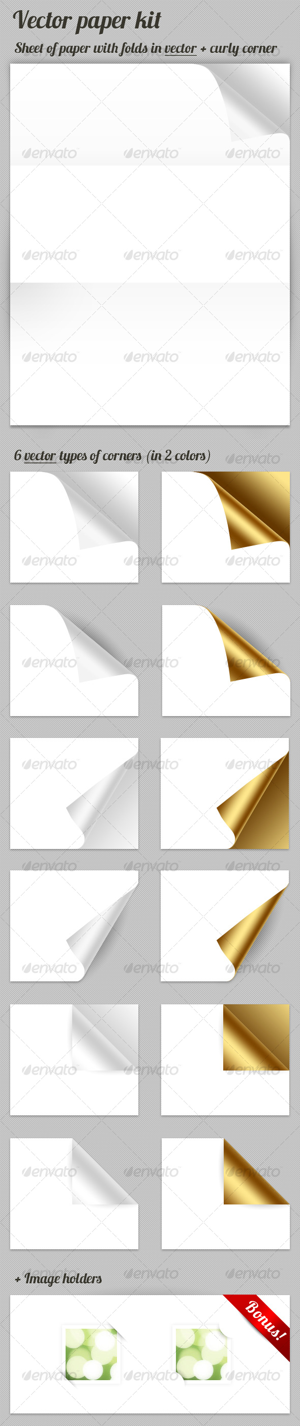 GraphicRiver Vector Paper kit 122938