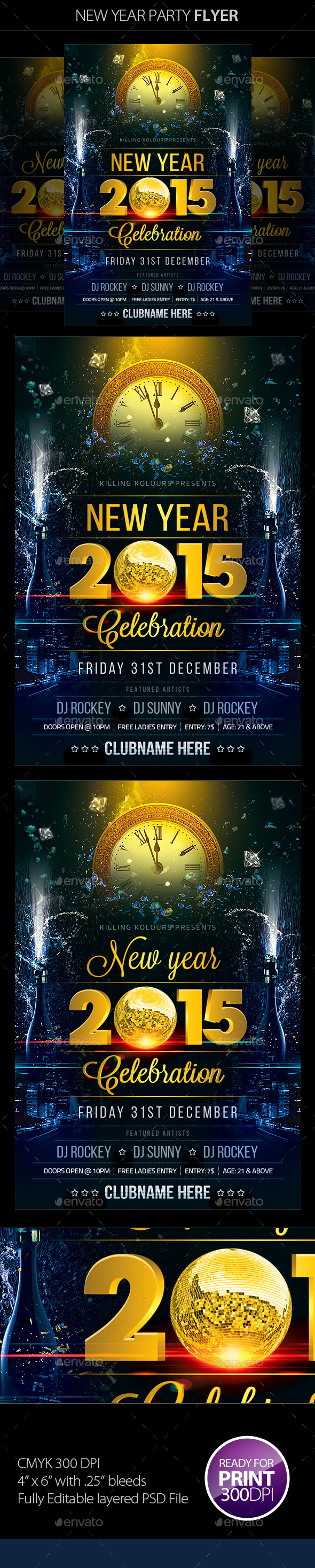 GraphicRiver New Year Party Flyer 9651520