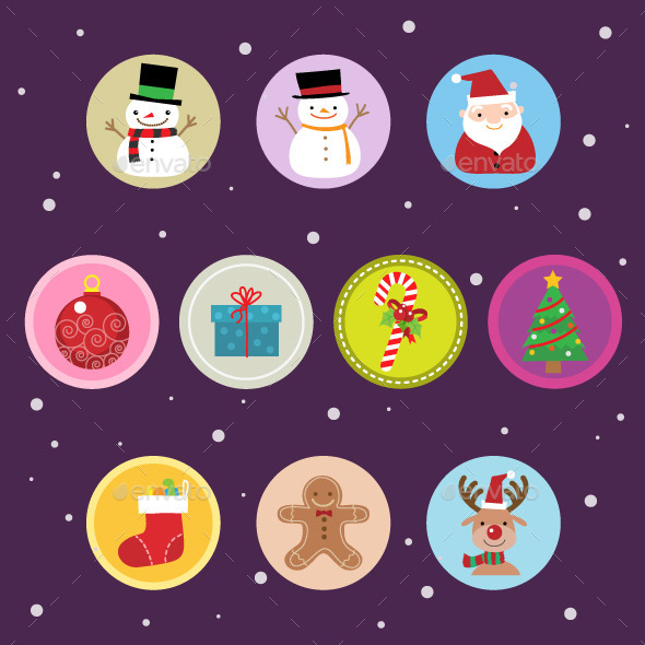 GraphicRiver 10 Flat Christmas Icons vol 2 9652073