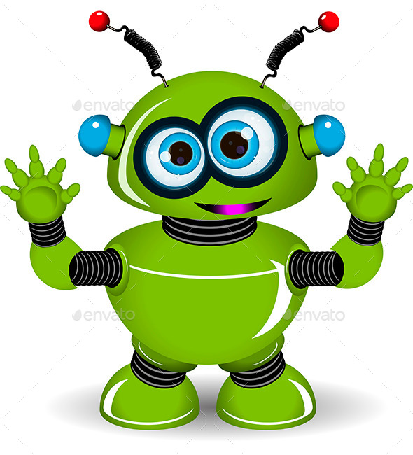 GraphicRiver Green Robot 9652349