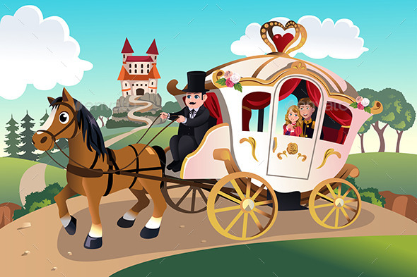 GraphicRiver Prince and Princess in Horse Wagon 9652368